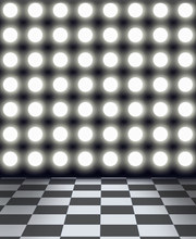 8x12FT Round Spot Light Wall Black White Mosaic Tiles Checkers Floor Custom Photography Backdrops Studio Background Vinyl 10x20(China)