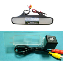 waterproof Color sony CCD Chip Car Rear View Camera for Kia Optima 2010 2011 / KIA K5 + 4.3 Inch  rearview Mirror Monitor