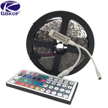 GBKOF 10M 5M LED strip RGB 5050 waterproof strip 60leds/m 30leds/m DC 12V fita de led light RGB tape Ribbon+Remote Controller