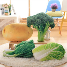 Creative plush toy pillow stuffed cabbage vegetables personality simulation vegetables potatoes broccoli dish doll stuffed toy n(China)