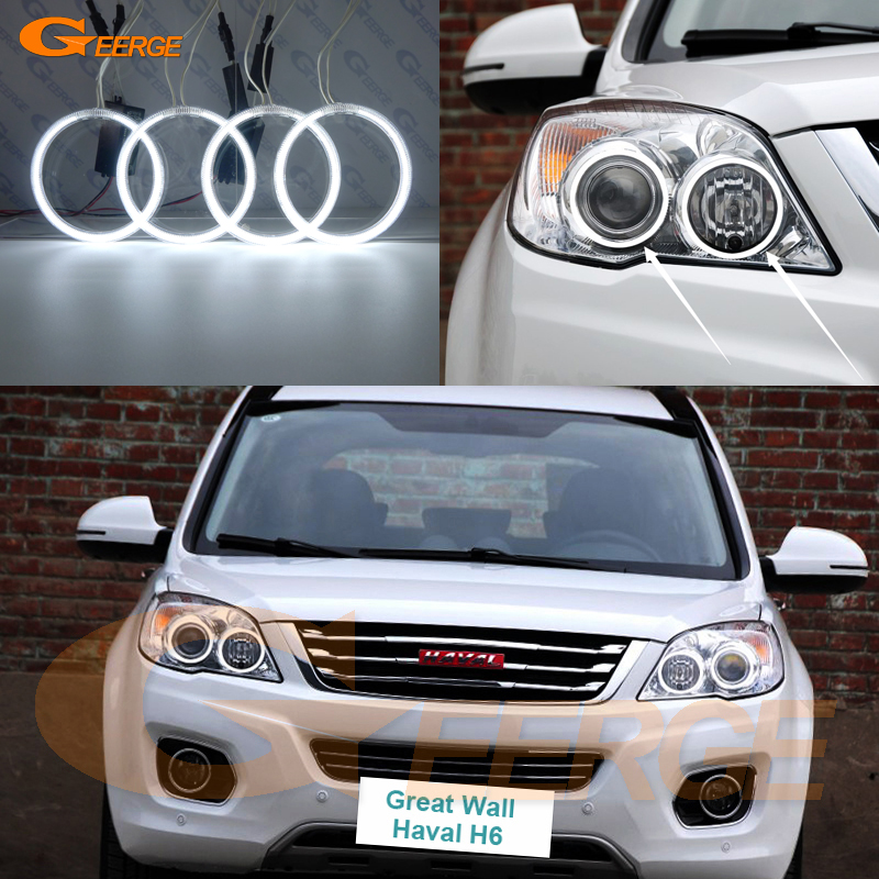 For Great Wall Haval H6 2011 2012 2013 2014 2015 Excellent Ultra bright illumination CCFL Angel Eyes kit Halo Ring<br>