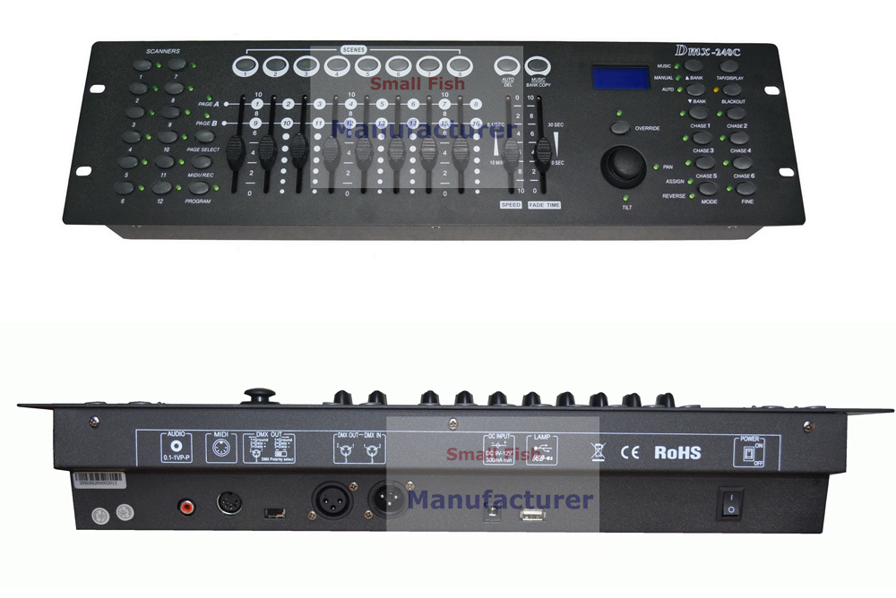 2018 New Arrival 240 C DMX Controller DMX512 Dj DMX Console Equipments For Stage Party Wedding Disco Shows Events Lighting