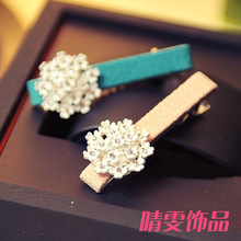 2017 Sale Limited Imports Of Stars Diamond Hairpin Duckbill Clip Korea Jewelry Wholesale Flower Hair Accessories Freeshipping