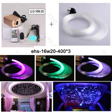 Free shipping Car roof 12v 16w ceiling starry star fiber optic light for car ceiling decoration(China)