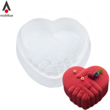 Wulekue 1PCS Silicone Small Romantic Love Peace Hand Molds For Dessert Chocolate Mousse Pan Mold Cake Baking Tools(China)