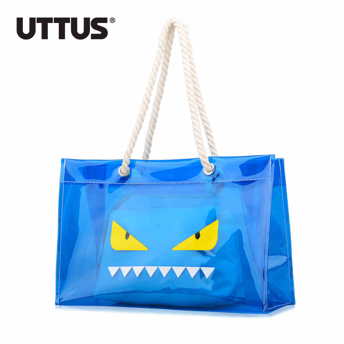 2017 Jelly Candy Clear Transparent Handbag Tote Shoulder Bags Beach Bag 2-in-1 Evil Monster Eyes<br><br>Aliexpress