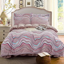 4pcs Crystal Flannel Printed Fringe rhythm Plaid Bedding set Winter Warm Fleece Soft Duvet cover set Bed Sheet Queen King size(China)