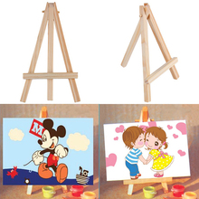 Kids Mini Wooden Easel Artist Art Painting Name Card Stand Display Holder Educational Toy Special And Meaningful Gift For Child(China)
