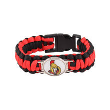 Ottawa Senators Paracord Bracelet NHL Ice Hockey Team Sport Fans Friendship Outdoor Camping Survival Bracelet Whosale 10pcs/lot(China)