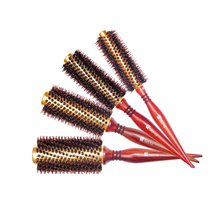 Price At Factory Tuba Pig 's Bristles Gross Volume Hair Blow Straight Hair Rolling Comb Pear Modeling Comb Will Flower Comb(China)