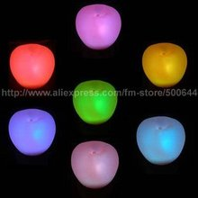 Colorful Apple Night Light/7 Color Changing Apple Night Lamp/LED Colorful Christmas Night Light & 5PCS/Lot Free Shipping