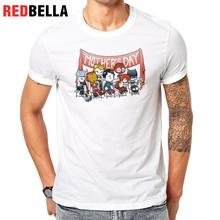 REDBELLA Tee Men Marvel Cartoon Superman Hero BatMan Flash America Captain Funny Hipster Tshirt Tops 100% Cotton O Neck Printing(China)