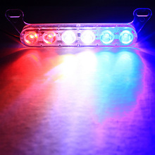 1PCS Car Styling Motorcycle LED Strobe Braking Light Vehicle Flash Lights Lamp Warning Red Blue White DC12V New