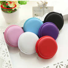 6 Colors PU leather Zipper Protective Headphone case Pouch Earphone Storage bag Soft Headset Earbuds box Usb cable organizer(China)