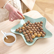 Popular star shape Plastic Fruit Bowl Dumplings Dish Disc Tool Plates Tableware