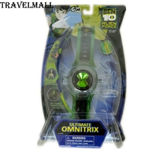 TraVelMall New in Box Anime Ultimate Omnitrix Watch Illuminator Lights & Sound Toy for ben 10 Alien Force Children kids gift