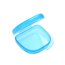 Blue Utility Orthodontic Dental Retainer Storage Boxes Case Plastic Denture Tray Box Teeth Container Denture Bins Beauty&Health