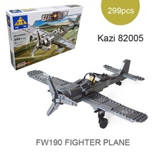 Mini Century Military FW190 FIGHTER PLANE Building Toy German Airborne troops figures Model Kazi 82006