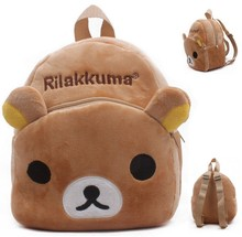 candice guo! cute plush toy cartoon SAN-X Rilakkuma bear chicken small backpack shoulder bag baby 1~2 ages candy bag gift 1pc(China)