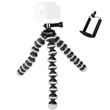 2017 Large Octopus Flexible Tripod Stand Gorillapod for Gopro Hero 4/ 3+/ 3 sj40/Camera Digital DV Canon Nikon Mobile Phone(China)