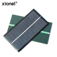 Xionel Epoxy 1W 6V Mini Solar Cell Module Polycrystalline Solar Panel Charger For 3.7V Battery System LED Light 110*60*3MM(China)