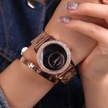 Luxury GUOU Brand Gold Stainless Steel Top Quality Fashion Woman Diamonds Lady Gift Quartz Wristwatches waterproof student Watch