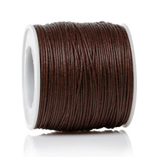 DoreenBeads Wax Rope Jewelry Thread Cord Coffee 0.5mm,2 Rolls(About 100Yard/Roll)