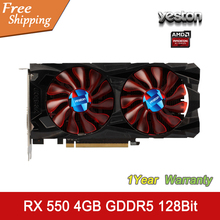 YESTON Graphics Card Radeon RX550 4GB GDDR5 128bit HDMI DVI DP 512SP Original Desktop Graphics Card