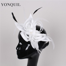 Women wedding event fashion headwear DIY fascinator base decoration style handband with feather hair accessories bridal supplies