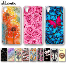 AKABEILA Soft TPU Plastic Phone Cases For HTC Desire 626 628 650 626w 626D 626G 626S Covers Skin Rose Flower Butterfly Bags(China)