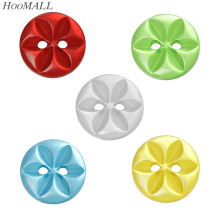 Hoomall 5 Color Mixed Resin Buttons 14mm Sewing Buttons For Coat Cloth Scrapbooking Crafts DIY Sewing Accessories 100PCs