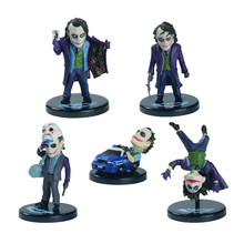 "Batman The Joker PVC Action Figure Collection Toy Keychain or Model Toy 5pcs/set 2"" about 5cm(China)"