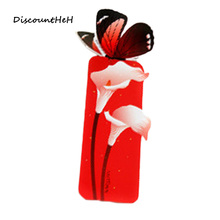 5PCS/set Bookmark Butterfly Style Teacher's Gift Book Marker Stationery Gift Cute Kawaii Cartoon 3d Bookmark(China)