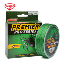 PROBEROS 100M PE Braided Fishing Lines 4 Strands 8LB 10LB 20LB 60LB 100LB Fishing Line Yellow Blue Green Red Grey(China)