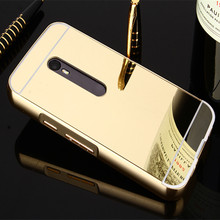 Luxury Gold Plating Aluminum Frame + Acrylic Hybird Mirror Case For Motorola Moto G (Gen 3) Moto G3 Phone Back Cover Capa