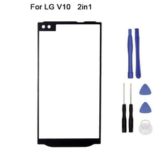 "10pcs/lot New Replacement LCD Front Touch Screen Panel Outer Glass Lens For LG V10 H960A H900 H901 VS990 H961N Dual-Layer 5.7""(China)"