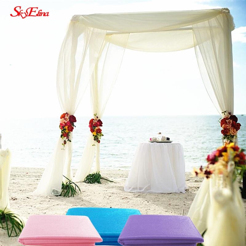 72CM  10M Multicolor Snow Yarn Crystal Transparent Gauze Gauze Elements Yarn Party Supplies Wedding Dresses 5ZSH015-2 (2)