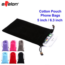 Effelon Cotton Neck Strap Sleeve Phone Pouch Bag Case cover for Samsung Galaxy Note 7 5 4/S7 edge S4 S3 iPhone 6 6s plus LG(China)