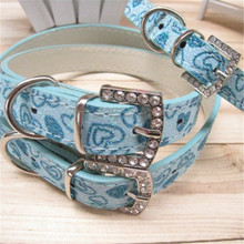New Listing Flashing Heart Shape Pet Collar Pet Traction RopeSmall/Medium/Big Dog and Other Animals Lead Leash 1PCS(China)