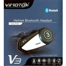 New Arrival Vimoto V3 Multi-functional GPS 2 Way Radio Bluetooth Motorcycle Helmet Bluetooth Headset(China)