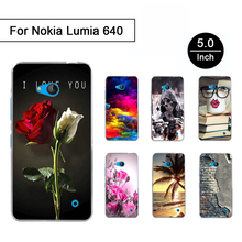 Case For Microsoft Nokia Lumia 640 Soft Silicon Shells for Nokia Lumia 640 3D Printed Cartoon Back Phone Cases Protective Cover