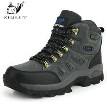 ZHJLUT New Men Women Water-resistant Walking Camping Shoes Boots Sports Shoe Leather Unisex Outdoor Hiking Shoes Boot