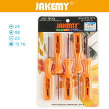 Jakemy 5pcs Precision Screwdriver Torx T5 T6 Screwdriver Set Repair Tools Kit For Cellphone Laptop(China)