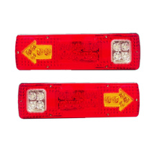 12v/24v Heavy light Truck trailer Tractor Van Lorry Train Wagon Led rear tail Fog light replacement taillights w/ turn signals