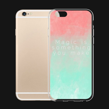 Magic is Something You Make Rainbow 6 Choice For iPhone 6 6s 7 Plus Case TPU Phone Cases Cover Mobile Protection Decoration Gift(China)