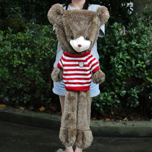 60cm to 180cm giant Hedgehogs bear skin toy plush Teddy Bear bearskin plush fabric plush toy with sweater Free shipping(China)