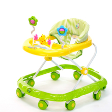 Hot Sale Children Baby Walker Multifunctional Toys Plate Large Chassis Folding Easy Anti-rollover Safety Scooter Baby Walkers(China)