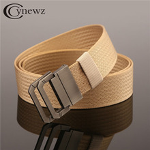 Top Quality Nylon Web Belt Fashion Mans Women's 2 Rings Buckle Tactical Military Canvas Belt Waist Knitted Straps Ceinture 120cm