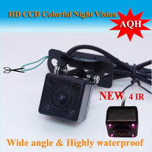 Wide Viewing Angle Waterproof Reversing Rear View Camera 4 IR Night Vision Car Rear View Camera CCD imaging Sensor
