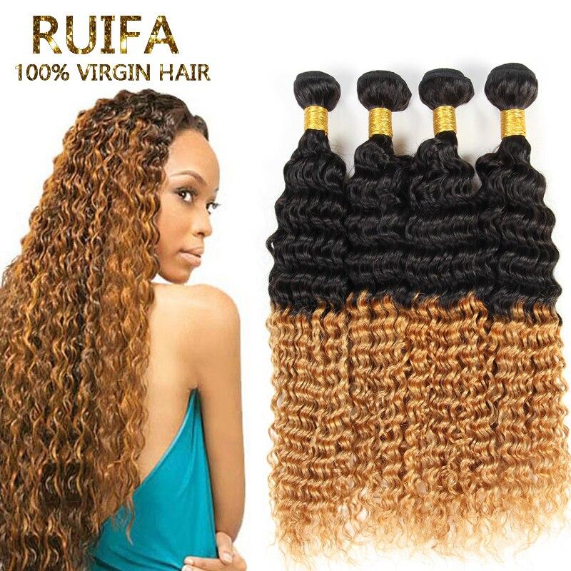 Malaysian Curly Ombre Hair Extensions Virgin Malaysian Ombre Curly Hair 3 Pcs /Lot Two Tone Color Ombre Human Hair bundles<br><br>Aliexpress